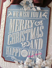NEW✿ Large Merry Christmas New Year Frame Embossing Folder ✿For Cuttlebug Sizzix