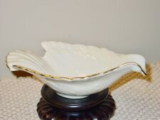 Lenox Ivory Gold Bird Shape Handle Serving Bowl Dish 8 Inches