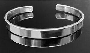 Solid 925 Sterling Silver Open Mens Torque Bangle Bracelet UK Seller RRP £80+