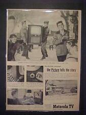 RARE VINTAGE  ~1952 MOTOROLA T.V. TELEVISION SET ART PRINT AD~  ORIG ANTIQUE OLD