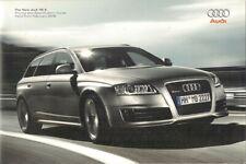 Audi RS6 Avant 5.0 TFSi 2008 UK Market Sales Brochure A6