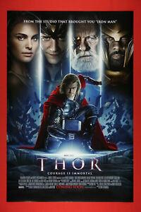 Thor Marvel Chris Hemsworth, Natalie Portman Movie Poster 24X36 New    THOR