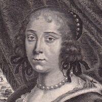 Portrait XVIIe Éléonore Fébronie de Wassemaer de Bergh Fronde Moncornet