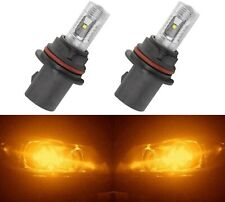 LED 30W 9004 HB1 Orange Amber Two Bulbs Head Light Replace Show Use Lamp