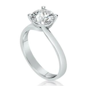 0.5 Ct Classic 4 Prong Round Cut Diamond Engagement Ring VVS1 D White Gold 14k