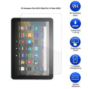 Tempered Glass Screen Protector Cover For Amazon Fire HD 8 Kids Pro 10 Gen 2020
