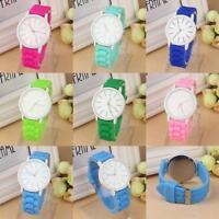 Fashion Silicone Watch Women Jelly Gel Quartz Analog Sports Wrist Watch