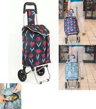 Shopping Trolley Bag Cart Folding 2 Wheels Light-Weight Luggage UK Seller