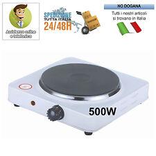Mini Fornello Elettrico 500W Regolabile Piastra In Ghisa Viaggio Campeggio 105mm