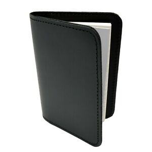Police Leather Book Style Memo Book Cover 3x5 Pocket Notebook Note Pad Black