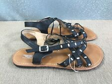 BNWT Ladies Older Girls Sz 5 Rivers Doghouse Brand Black strappy Sandals