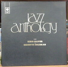 JAZZ ANTHOLOGY FROM KING OLIVER TO O. COLEMAN / COFFRET 4xLP's VINYL CBS RECORDS