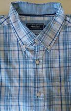 Mens Debenhams Short Sleeve XL Shirt Blue White Check