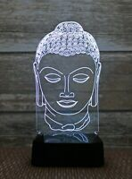 3D Nightlight  Buddha Head Creative 3D  Lamp Touch-Switch LED 7 Colors 9'