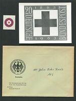 BUND FOTO-ESSAY 400 ROTES KREUZ 1963 RED CROSS PHOTO-ESSAY PROOF RARE!! e502