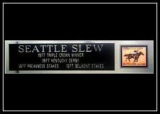 Seattle Slew 1977 Triple Crown Nameplate Kentucky Derby Preakness Belmont Stakes