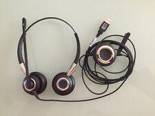 Jabra BIZ 2400 USB DUO MS Silver/Black Headband Headsets