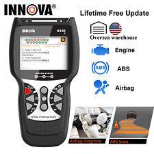 Innova 6100P Code Reader ABS SRS Airbag Reset Car Diagnostic Tool OBDII Scanner