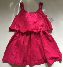 NWT Ralph Lauren Girl Hot Pink Polo Pony Party Tank Dress Sz 2 2T