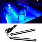 2pcs Waterproof Blue Led Strip Pod Panel Lights -driving Running Light For Boats