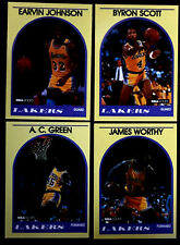 1989/90 Hoops MAGIC JOHNSON ~From Sears Set~ YELLOW BORDER CARD + 3 Other Lakers