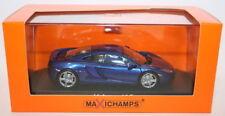 Modellini statici di auto , furgoni e camion blu marca MINICHAMPS Scala 1:2