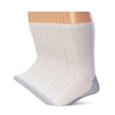 Hanes Men's FreshIQ Cushion Crew Socks 12-Pack - White