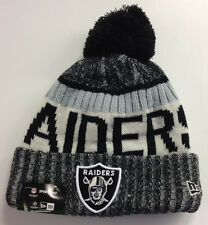 Oakland Raiders New Era NFL Knit Hat On Field Sideline Beanie Stocking Cap 2017