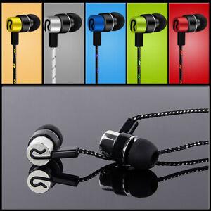 In-Ear Sport Earphones Bass Headphone Stereo Headset Earbuds Braided Line 3.5mm