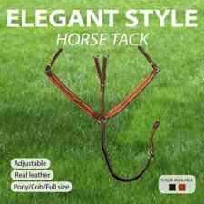 vidaXL Elastic Breastplate Martingale Adjustable Horse Brown/Black Multi Sizes
