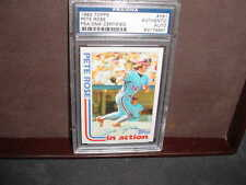 1982 topps  PETE ROSE  signed AUTO baseball CARD PSA/DNA SLABBED  #781