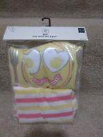 NWT Baby Gap Girl's Pajamas 12 18 Egg Bacon Face Striped Bottoms Pink Yellow