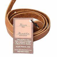 Bison Leather Mandolin Strap Tan Lakota Leathers Spruce A or F Style Ukulele