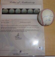 1993 Cleveland Indians Team Signed Baseball Jim Thome Baerga Alomar Nagy