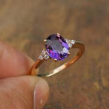 Amethyst Gemstone Handmade 925 Sterling Silver Ring Jewelry Size 6.5