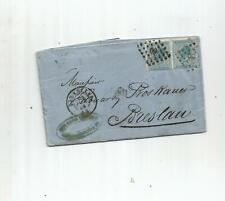 TOP NEEWS EXCLU: lettre de BELGIQUE 1868 .3scans