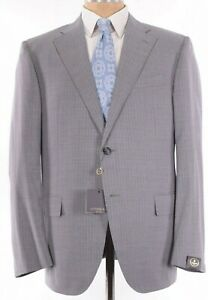 Corneliani NWT Suit Size 44R In Light Gray With Fine Blue Stripes $1,895