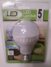 LED Light Bulbs Medium Base 40 Watt Energy Saver Uses Approx 5 Watts