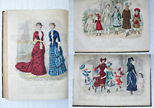 REVUE DE LA MODE - 1882 - 53 numéros in-folio / 53 gravures coloriées.