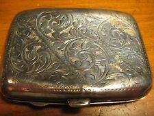 ANTIQUE STERLING SILVER CIGARETTE CASE BIRMINGHAM C 1900-1912 J.C. COLLYER