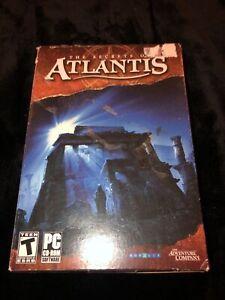 The Secrets of Atlantis (PC, 2007, 3 Discs) The Adventure Company NEW SEALED BOX