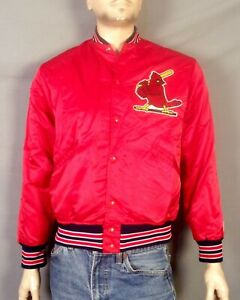 vtg 70s 80s Felco Puffy Satin Baseball St. Louis Cardinals Jacket Bullpen MLB S