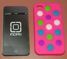 Incipio changeable dot case for iPhone 4/4s, Pink base with moveable d