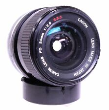 CANON S.S.C 24mm f/2.8 FD Mount Wide Angle Prime Camera Lens in Carry Case - D43