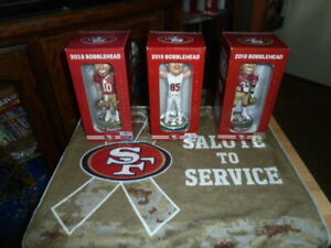49ERS GAMEDAY GAME DAY 2018 2019 3 BOBBLE HEADS GAROPPOLO KITTLE AND STALEY