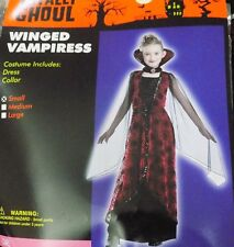 NEW Girl's Winged Vampiress Costume Dress Size L Large NWT - FREE SHIPPING