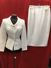 "TALLY TAYLOR SKIRT SUIT/NEW /SIZE 16W/WHITE/ REATIL$199/LINED/SKIRT LENGTH37""/"