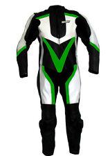 Tuta per moto racing da pista in pelle intera con gobba M L XL 2XL 3XL 4 54 56