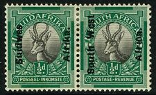 SG 41 SOUTH WEST AFRICA 1926 - HALFPENNY BLACK & GREEN - MOUNTED MINT