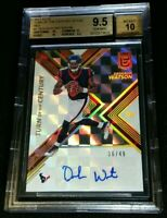 BGS 9.5/10 1/1 SUBS DESHAUN WATSON RC AUTO /49 RED ROOKIE SSP 2017 Donruss Elite